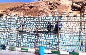 بندکشی و زیباسازی دیوار ورودی سولقان