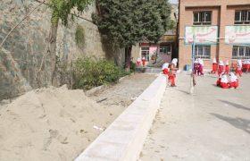 اجرای عملیات بهسازی دبستان دخترانه شهید احمد مرادی