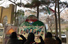 برگزاری اولین سالگرد شهادت حاج قاسم سلیمانی توسط دختران جهادی علمدار کربلای سولقان